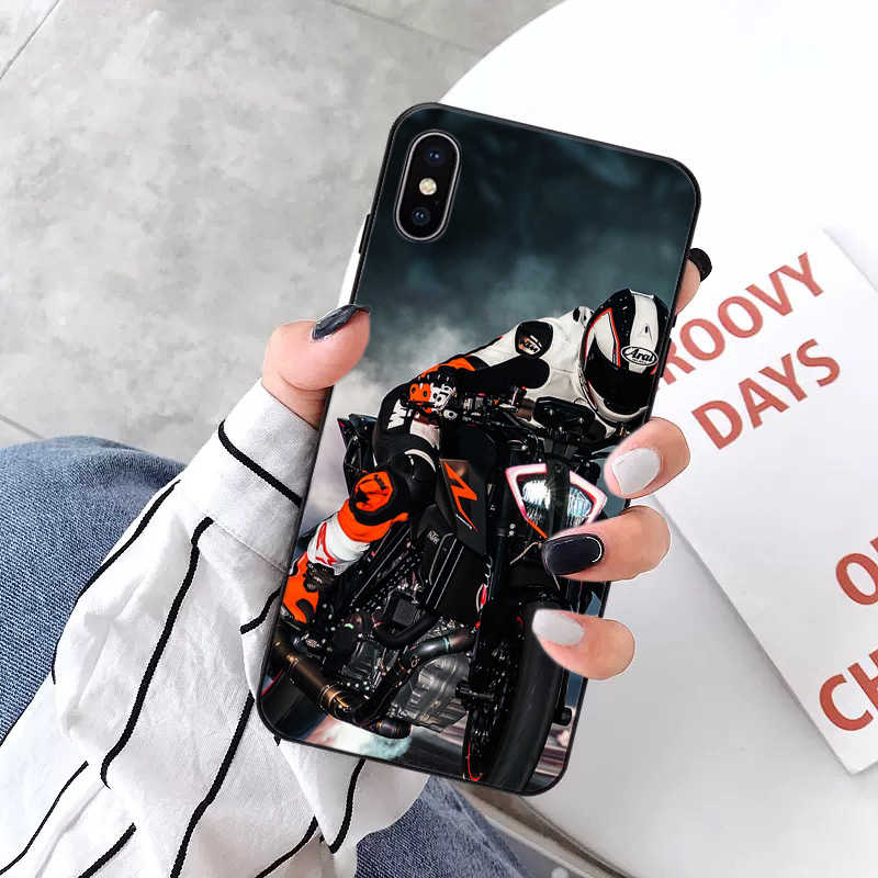 Maiyaca Đẹp Trai Xe Máy Coque Vỏ Ốp Lưng Điện Thoại Apple iPhone 8 7 6 6S 6S Plus X XS Max 5 5 5S SE XR 11pro Max Bao