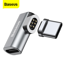 Baseus usb tipo c cabo para tipo c adaptador magnético para macbook samsung s8 s9 oneplus 5 5t 6 ímã de carregamento rápido USB C conector