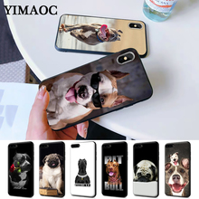 Pit Bull Lovely Pet Dog Pitbull Silicone Case for iPhone 5 5S 6 6S Plus 7 8 11 Pro X XS Max XR