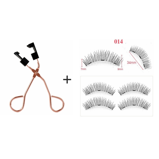 Magnetic Eyelashes Natural 3D Magnetic Eyelash No Glue, with Applicator Clip,pestañas magneticas,cils magnetique,cilios magnetic 1