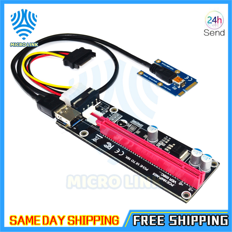 Mini PCIe to PCI express 16X Riser for Laptop External Graphics Card EXP GDC BTC Antminer Miner mPCIe to PCI-e slot Mining Card-4