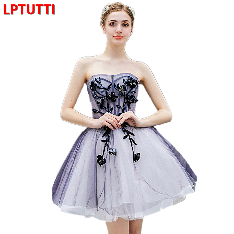 LPTUTTI Appliques Crystal New Sexy Woman Social Festive Elegant Formal Prom Party Gowns Fancy Short Luxury Cocktail Dresses