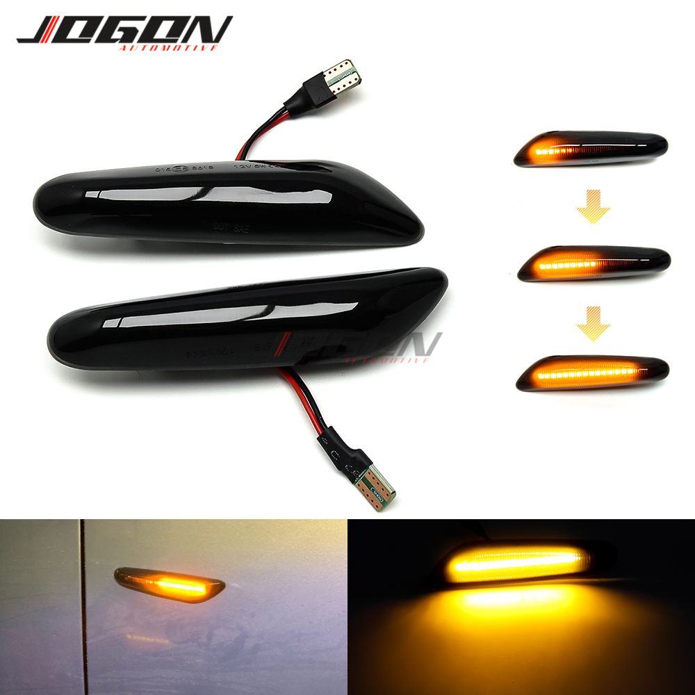Dynamic Turn Signal Light LED Side Fender Marker Sequential Indicator For BMW 1 3 5 Series X1 E81 E82 E46 E90 E91 E60 E61 E84 image