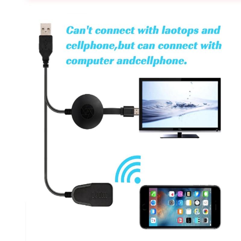 دونغل العرض اللاسلكي ، واي فاي استقبال العرض المحمولة 1080P HDMI Miracast دونغل ل iOS آيفون باد/ماك/أندرويد الهواتف الذكية/واي فاي