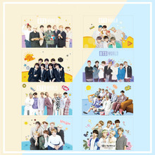 Korean star group K pop Bangtan boys blackpink txt izone kawaii 8pcs Fans support transparent kpop photocards stationery