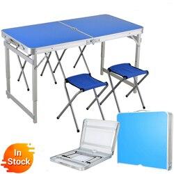 2018 Silla de mesa plegable al aire libre Camping aleación de aluminio mesa de Picnic impermeable ultraligera Durable mesa plegable escritorio para