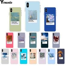 Yinuoda Vingate Vincent Van Gogh Pantone эстетическое искусство ТПУ мягкий чехол для телефона чехол для iPhone 8 7 6 6S Plus X XS MAX 5 5S SE XR