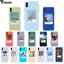 Yinuoda Vingate Vincent Van Gogh Pantone Aesthetic art TPU Soft Phone Case Cover for iPhone 8 7 6 6S Plus X XS MAX 5 5S SE XR