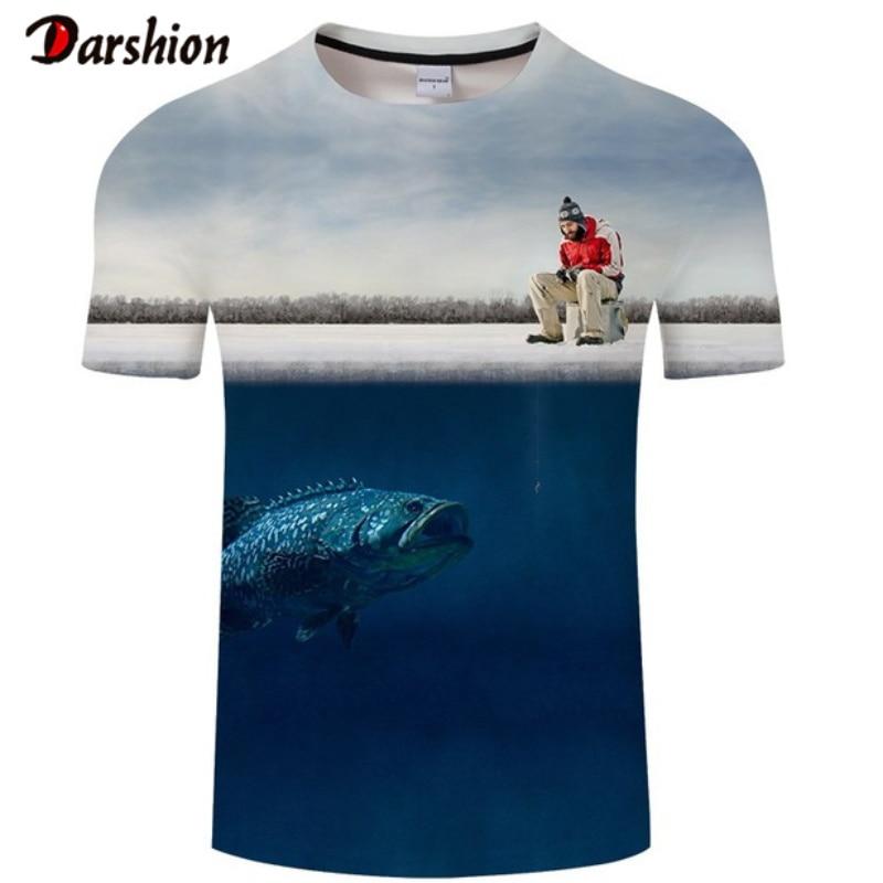 Fashion Casual T Shirt Fishing Skating T-Shirt Men T-shirts 3d Printed Clothes Hip Hop Tees Summer Short Sleeve O-neck Tops&Tees