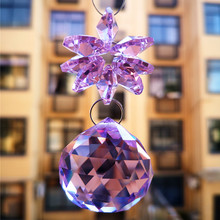 Faceted-Ball Chandelier-Beads Pendant Hanging-Decoration Crystal Christmas-Tree Diy Suncatcher