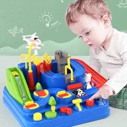 Детская развивающая машинка, игрушки для мальчиков, трек приключений, настольные игры, железнодорожные машинки, механические парковки, дет...