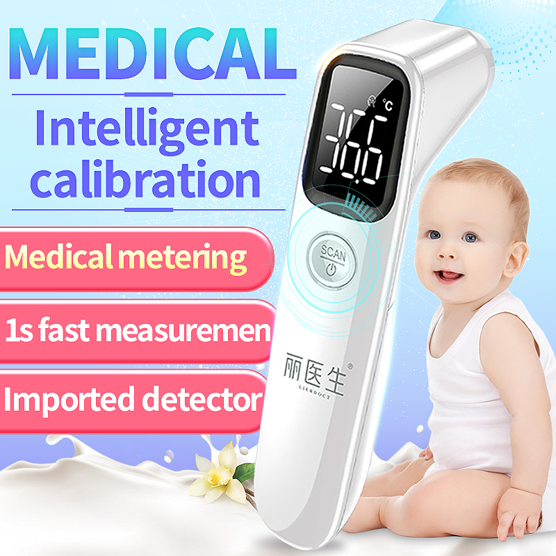LIERDOCT Baby Forehead Thermometer Fast Accurate Measurement Household Digital LED Non-contact Infrared Thermometer Electronic