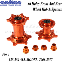 CNC Machined 36 Holes Front And Rear Wheel Hub and Rear Wheel Spacers For EXC EXC F SX SX F XCW Motocross Endupro Supermoto