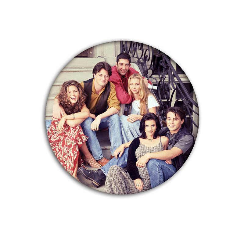 Klasik TV Show Teman Ikon Lencana Diy Vintage Bros Pin untuk Ransel Enamel Pin Lencana untuk Pecinta Teman Terbaik pin