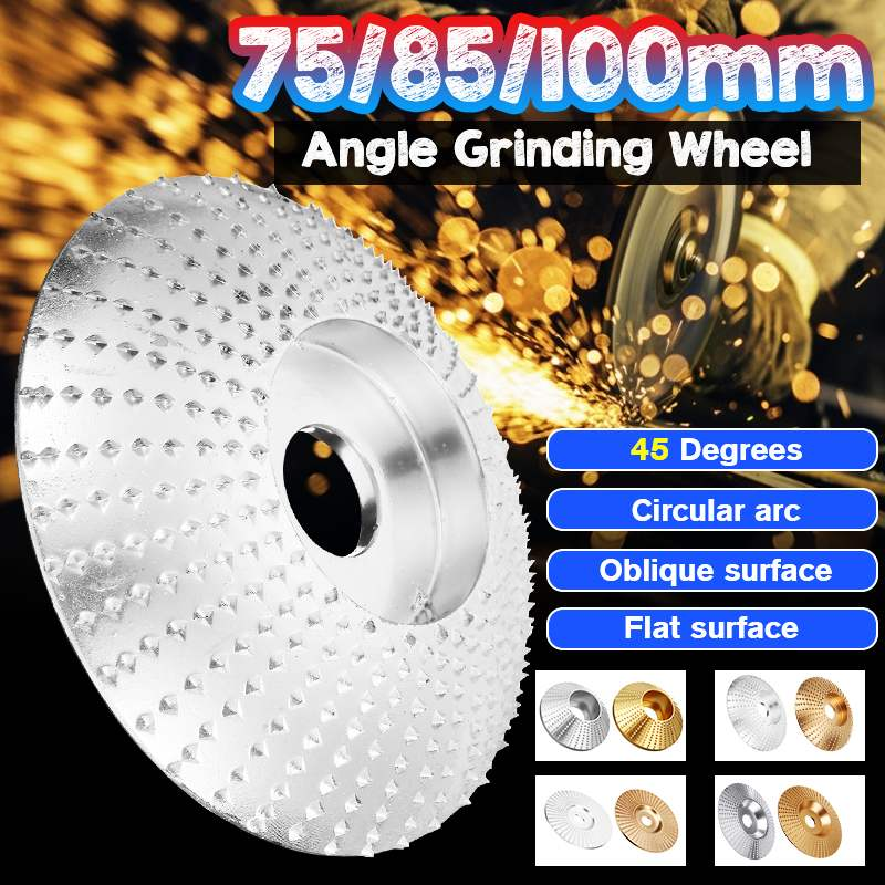 8 Type Wood Grinding Wheel Angle Grinder Disc Wood Carving Disc Sanding Abrasive Tool 5/8inch Bore