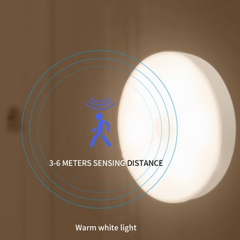 2020 Chargeable Night Lights Smart PIR Motion lamp with sensors LED Luminaria Lamp For Children's Kids Living Room Bedroom Aisle image
