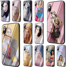 Get more info on the EWAU Katy Perry Singer Tempered Glass phone case for iphone 5 5s SE 6 6s 7 8 plus X XR XS 11 pro Max
