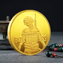New PLAYERRUNKNOWNS Coin Stimulate The Battlefield Gold-plated Silver Commemorative Collection Decoration Gift