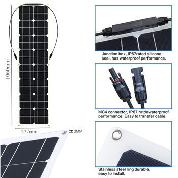 400W 2x 200W Solar Panel Mono Solar Battery Charger with 5V/12V/24V Controller for Car Yacht Battery Boat RV 2
