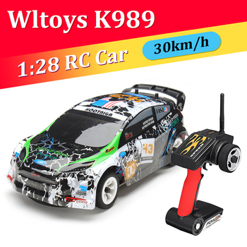 Wltoys K989 1:28 2.4G 4WD RC Car Alloy Brushed Remote Control Racing Crawler RTR Drifting High Quality Toys Models Toys for Kids 1