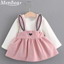 Menoea 2019 nuevo estilo de otoño recién nacido conjunto de ropa de bebé niña infantil Orejas de conejo traje de Bebés Ropa de niña