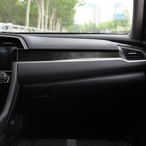 Аксессуары для внутренней панели автомобиля из углеродного волокна для Honda Civic 10th Gen 2016-2019