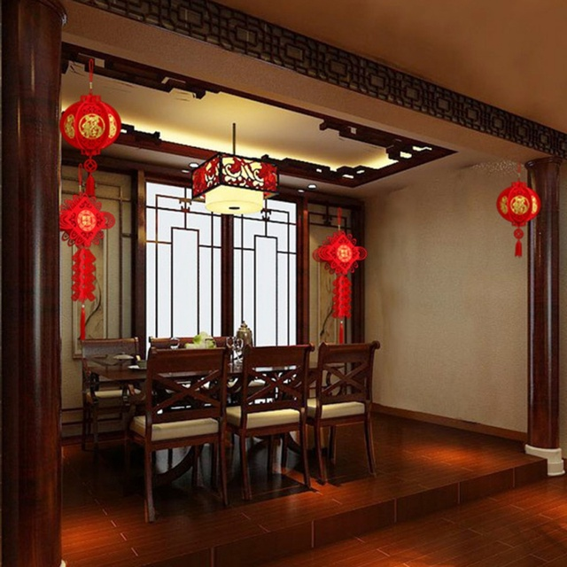 2020 Waterproof Good Fortune Red Paper Lanterns for Chinese New Year Spring Festival Party Celebration Home Decor 5