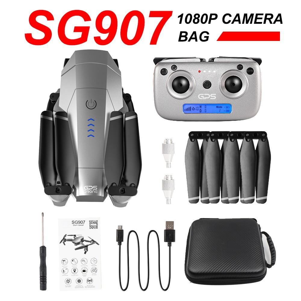 SG907 Quadcopter Drone 4K 1080P Dual Camera WiFi FPV Optical Flow Professional RC 500M RC Drone Foldable Long Range Drone Toys
