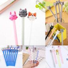 1pc Kawaii Cat Pens Cute Cat Neutral Gel Pen Black Ink Pens For School Supplies Office Writing Gifts Stationery Promotional Pen а и чикалев ю а юлдашбаев козоводство