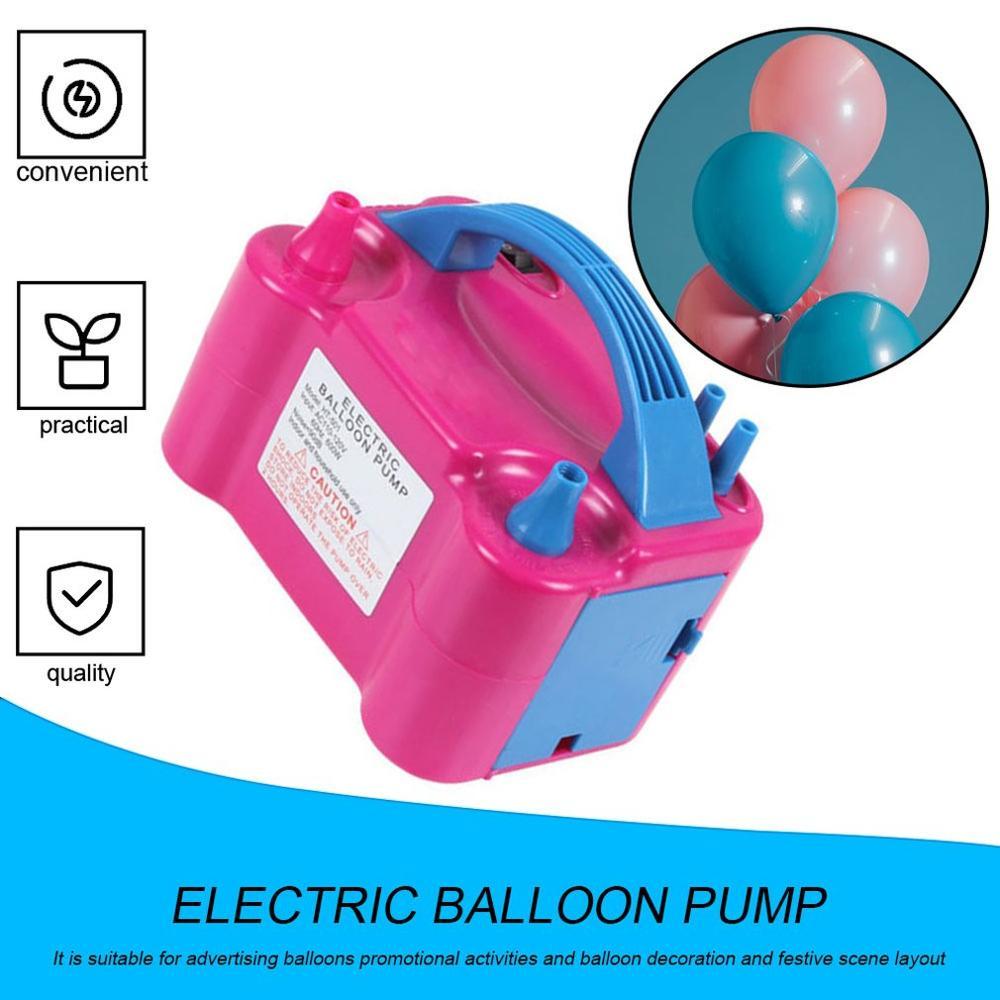 Электрический воздушный насос для воздушных шаров, 220 В, воздушный насос для украшения вечерние, для воздушных шаров, портативный воздушный ...