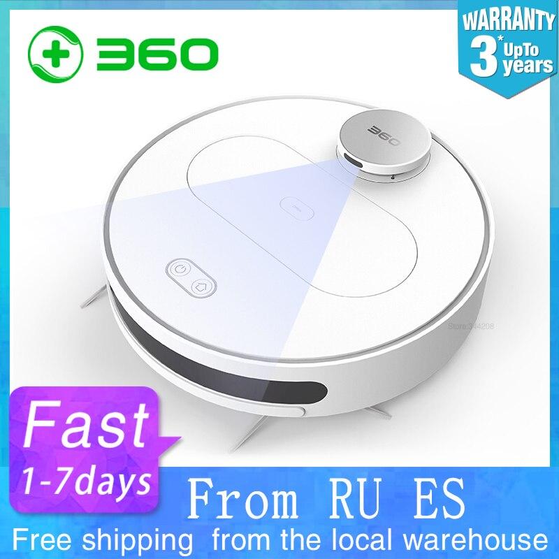 360 S6 Robot Aspirapolvere Per La Casa attraverso il telefono cellulare Per La Pulizia Spazzamento Lavaggio Mop Sterilizzare Laser LDS Smart Previsto Wifi
