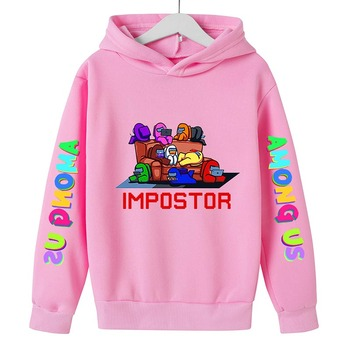 New 4 To 14 Yrs Game Among US Boys Girls Hoodies For Teens Cotton Impostor Graphic Funny Spring Autumn Clothes Sudadera 2