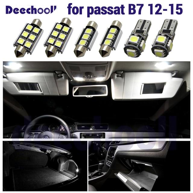 Canbus LED İç dome harita işık kiti + plaka lamba ampulü Volkswagen VW Passat B7 sedan varyant Estate 12 15