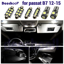 Canbus LED interior dome map light kit +license plate lamp bulb for Volkswagen for VW Passat B7 sedan variant Estate 12 15