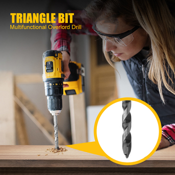 Electric Hand Drill Triangle Drill Bits Alloy Tricorn Bit Drilling Core Bit for Metal Iron Concrete Wood Glass image