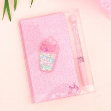 Girl's Hati Peri Kecil Gel Pena Tangan Account Book Gift Set Ice Cream Notebook Mengirim Teman Sekelas Hadiah(China)