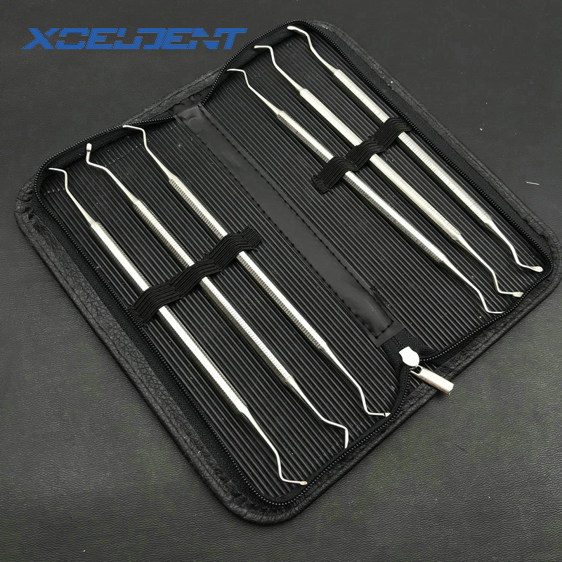 6pcs/set Dental Excavator Set Of 6 Restorative Spoon Dentistry Instrument Dentist Tools