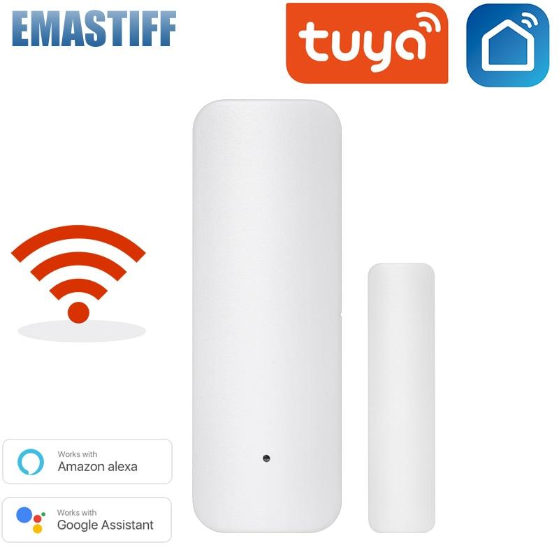 Смарт-детекторы открытой/закрытой двери Tuya, Wi-Fi, уведомления приложений, оповещения о безопасности, поддержка Alexa Google Home