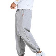 Laamei 2020 marka mężczyźni stałe sportowe spodnie dresowe spodnie dresowe na siłownie męskie biegaczy luźne Hip Pop spodnie typu Casual spodnie sportowe tanie tanio Proste CN (pochodzenie) Formalne Sznurek Mieszkanie Pełnej długości Poliester REGULAR NONE pants men Midweight Suknem