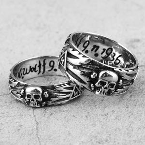 Stainless Steel Men Rings Domineering Skull Devil Punk Gothic HipHop Simple for Biker Male Boy Jewelry Creativity Gift Wholesale
