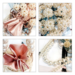 Image 5 - Hollow Out Pearl Handbgs Women New Luxury Small Beaded Pearl Clutch Purses And Handbags Ladies Woven Shoulder Bag Wedding Party