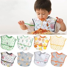 Adjustable Baby Bibs EVA Plastic Waterproof Lunch Feeding Bibs Baby Cartoon Feeding Cloth Children Baby Apron Babador de bebe baby bibs eva waterproof lunch feeding bibs newborn baby cute cartoon feeding cloth bib children apron kids feeding accessories