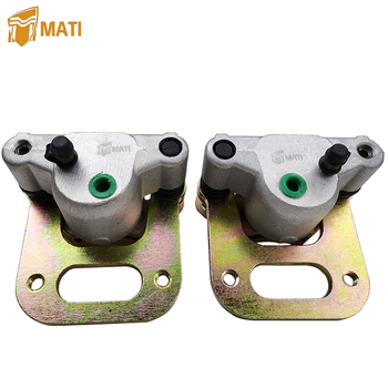 Front Brake Caliper Assembly for Polaris Big Boss 350L 400L 500 Magnum 425 Sportsman Xplorer 400 500 with Pads 1910309 1910310 for atv polaris atp magnum 330 500 sportsman x2 400 450 500 600 700 800 intl left front brake caliper assembly with pads 1910841