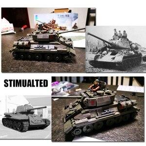 Image 5 - WW2 M26 Pershing tankı Panzer T 34 (85) abd almanya askeri tanklar yapı taşları askerler rakamlar tuğla seti oyuncak çocuk