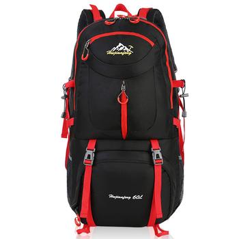 60l męski plecak Camping piesze wycieczki plecak podróżny konna plecaki górskie wodoodporna torba sportowa na zewnątrz torba trekkingowa dla mężczyzn tanie i dobre opinie HAIMAITONG CN (pochodzenie) Unisex Miękka osłona NYLON 50L Outdoor Climbing Bags Anti-tear waterproof large capacity
