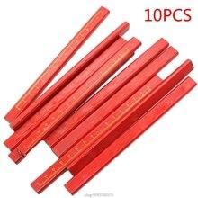 10Pcs Carpenters Pencils Black Lead For DIY Woodworking Black Thick Core Flattened Mark Pen Pencil F24 21 Dropship