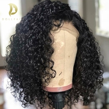Short Curly Lace Front Human Hair Wigs Pre Plucked With Baby Brazilian Remy 4x13 Bob For Black Women