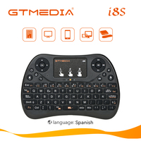 Miniteclado inalámbrico I8s, periférico español de 2,4 ghz, USB, para portátil, TV inteligente, con Touchpad, sin retroiluminación, para Android, decodificador y PC