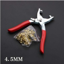 6 Chrome Dip Handle Corn Belt Buckle Shoes Clamp Hand Watch Band Punches Tool Eyelet Punch Pliers Leather Hole Tools