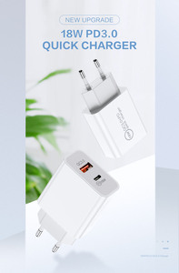 Image 2 - Rdcy 18W Pd Charger 3.0 Dual Port Quick Charge 3.0 Mobiele Telefoon Oplader Voor Iphone Samsung Xiaomi Qc 3.0 snelle Telefoon Opladen